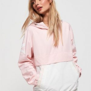 Superdry Colour Block Overhead Rose Pink