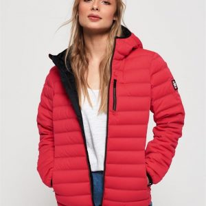 Superdry Contak Down Stretch Jacket Paradise Pink