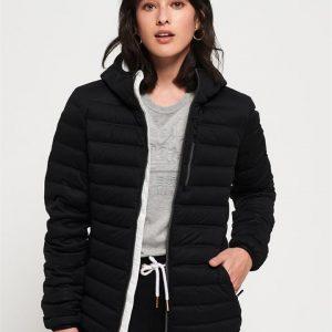Superdry Contak Down Stretch Jacket Black