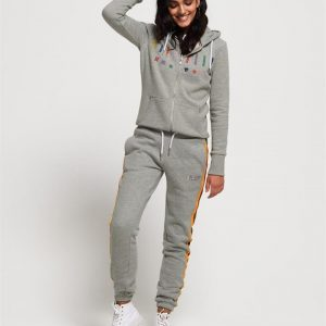 Superdry Carly Carnival Joggers Pebble Grey Marle