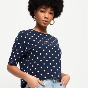 Superdry Lilly Graphic Tee Nautical Navy
