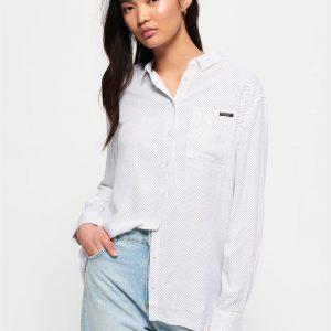 Superdry Devan Shirt White Polka Dot