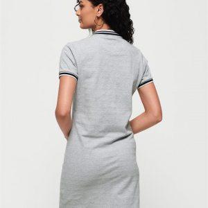 Superdry Polo Dress Soft Grey Marle