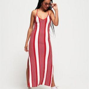 Superdry Azur Stripe Maxi Dress Red Stripe