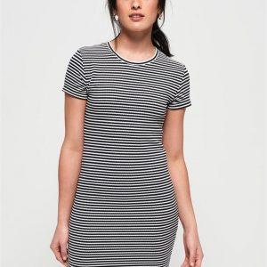 Superdry Evie Textured Tee Dress Eclipse Navy/Ecru