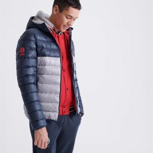 Superdry Cny Core Down Jacket Grey Marle