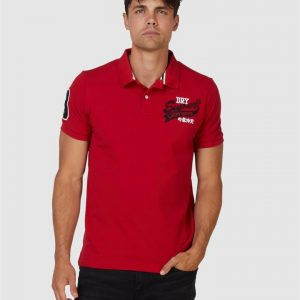 Superdry Cny Superstate S/S Polo Lucky Red