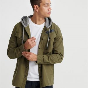 Superdry Utility L/S Hood Army Green