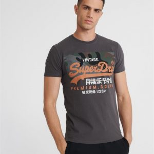 Superdry Vl Premium Goods Camo Tee Vintage Black