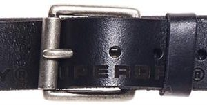 Superdry Edge Logo Leather Belt Black