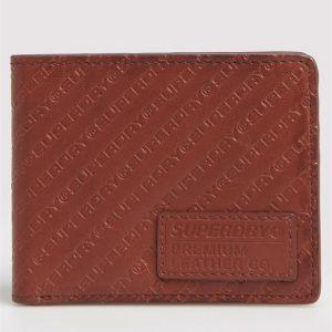 Superdry Aop Badge Lineman Wallet Light Brown