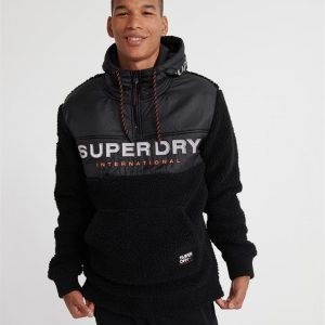 Superdry Sherpa Worldwde Stlth Hlf Zphd Black Marle