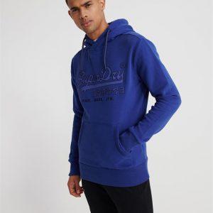Superdry Downhill Racer Applique Hood Downhill Blue