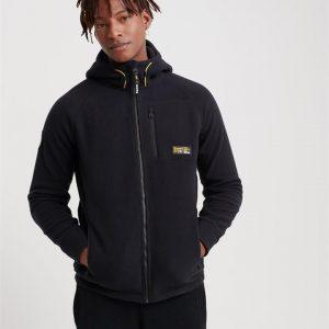 Superdry Polar Fleece Ziphood Black