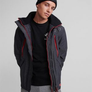 Superdry Hooded Polar Wind Attacker Charcoal Marle