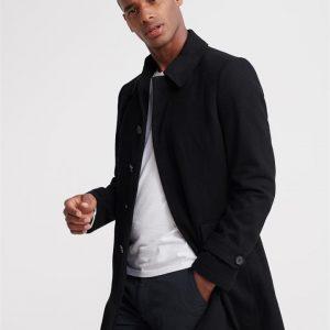 Superdry Edit Wool Car Coat Black