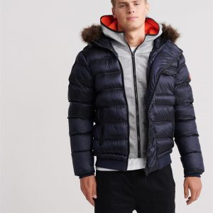 Superdry Icon Rescue Puffer Richest Navy