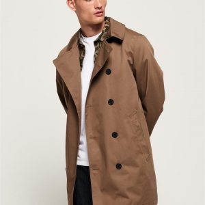 Superdry Edit Double Breasted Mac Umber