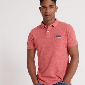 Superdry Classic Pique S/S Polo Downhill Red Grit