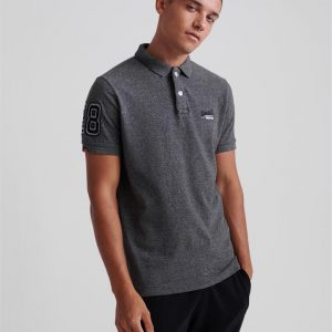 Superdry Classic Pique S/S Polo Nordic Charcoal Grit
