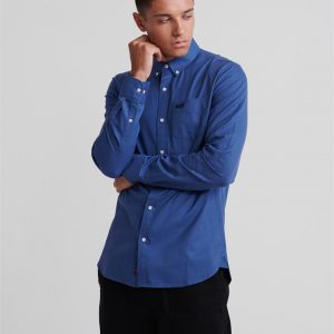 Superdry Classic London L/S Shirt Blue Gingham