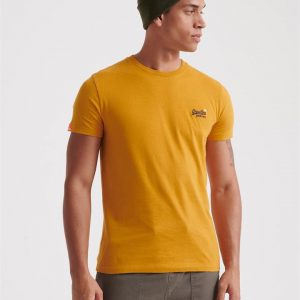 Superdry Ol Vintage Embroidery Tee Ochre Gold