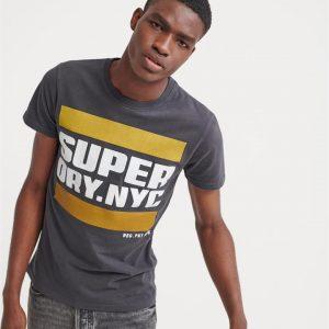 Superdry Nyc Tab Tee Washed Black