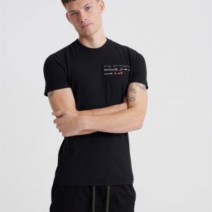 Superdry Trophy Embroidery Tee Black