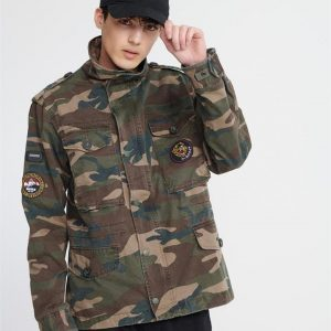 Superdry Patched Field Jacket Camo