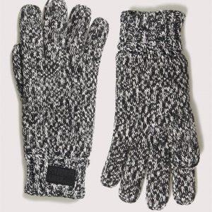Superdry Stockholm Gloves Black Grit