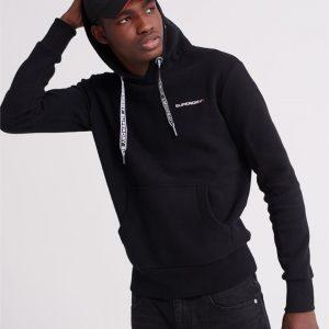 Superdry Urban Athletic Hood Black