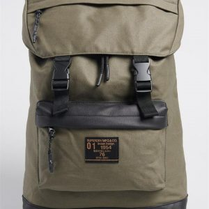 Superdry Waxed Top Load Commute Olive Night