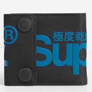 Superdry 2 Popper Wallet Black