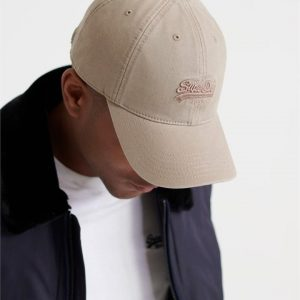 Superdry Orange Label Cap Combat Brown