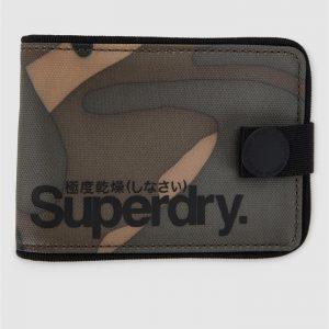 Superdry Tarp One Popper Wallet Camo