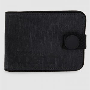 Superdry Tarp One Popper Wallet Black