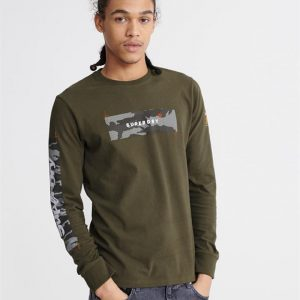 Superdry Chromatic Ls Tee Chive