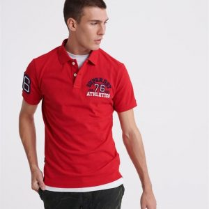 Superdry Classic Superstate S/S Polo Rouge Red