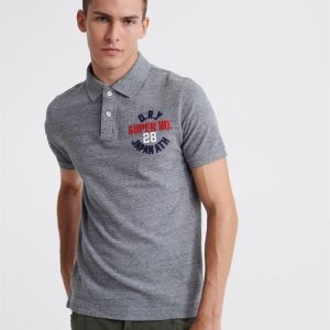 Superdry Classic Superstate S/S Polo Flint Grey Grit
