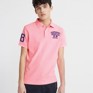 Superdry Classic Superstate S/S Polo Bright Blast Pink