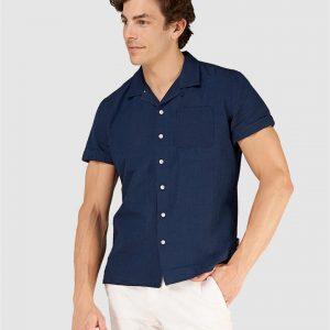 Superdry Edit Cabana S/S Shirt Indigo