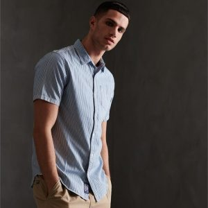 Superdry Loom S/S Shirt Blue Stripe