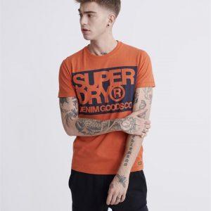Superdry Denim Goods Co Print Tee Denim Co Rust