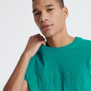 Superdry Core Faux Suede Tee Lapis