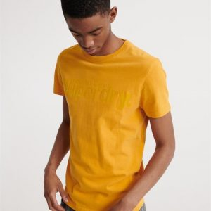 Superdry Core Faux Suede Tee Upstate Gold