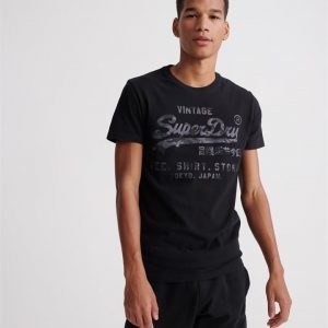 Superdry Vl Shirt Shop Bonded Tee Black