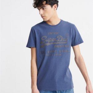 Superdry Vl Shirt Shop Bonded Tee Lauren Navy