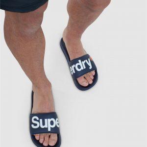 Superdry Classic Superdry Pool Slide Lauren Navy