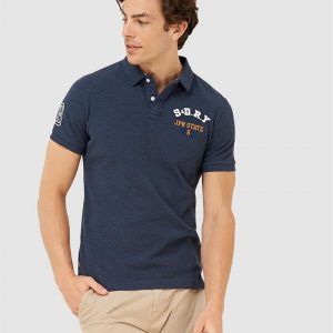 Superdry Classic Superstate S/S Polo Ensign Blue Twist