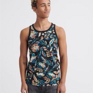 Superdry Aop Supply Vest Black Aop